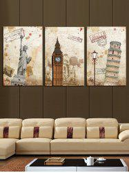 Popular Classic Buildings Printed Wall Decor Canvas Paintings -