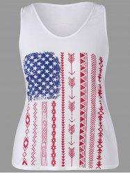 Graphic Plus Size Racerback Tank Top -
