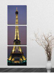 Night Eiffel Tower Painting Canvas Painting Print Wall Art Picture 3Pcs -