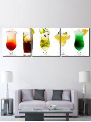 Different Fruit Juice Printed Unframed Canvas Paintings -