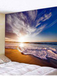 Wall Hanging Art Beach Sunrise Print Tapestry -