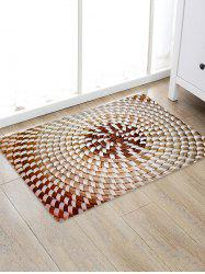 Straw Weaving Pattern Water Absorption Area Rug -