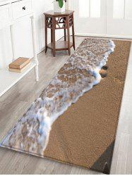 Sandbeach Wave Pattern Water Absorption Area Rug -