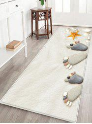 Beach Stone Footprint Pattern Water Absorption Area Rug -
