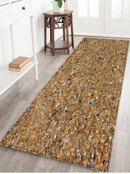 Beach Stones Pattern Water Absorption Area Rug -