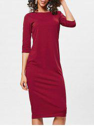 Bodycon Knee Length Shift Dress -