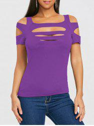 Strappy Short Sleeve T-shirt -