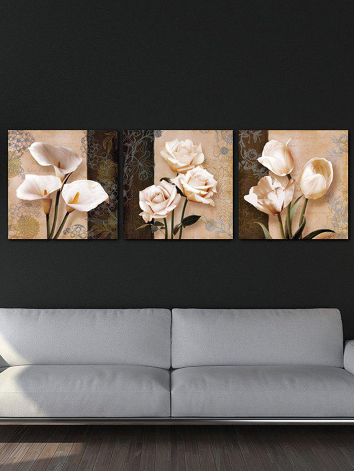 Shop Wall Decor Flowers Printed Split Canvas Paintings