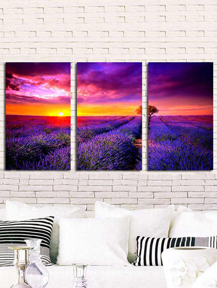 Fashion Sunlight Lavender Field Printed Unframed Canvas Paintings