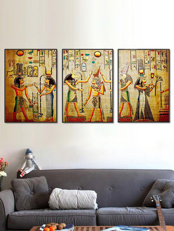 Unique Split Wall Art Canvas Egyptian Elements Paintings