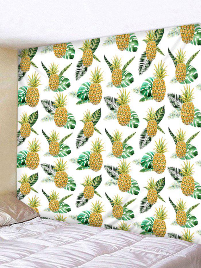 Fancy Wall Hanging Art Tropical Pineapple Print Tapestry