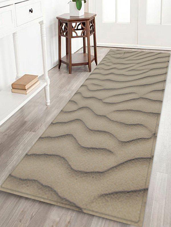 Outfits Desert Sand Line Pattern Water Absorption Area Rug