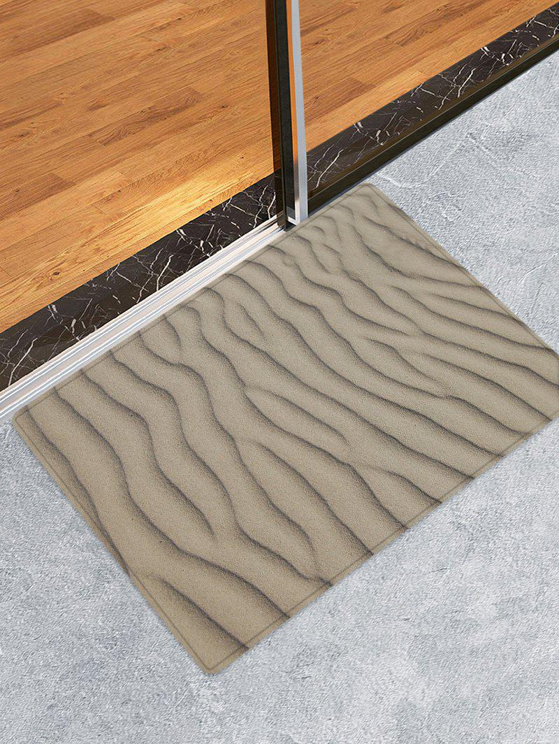 Outfit Desert Sand Line Pattern Water Absorption Area Rug