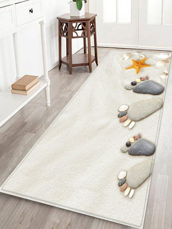 Shops Beach Stone Footprint Pattern Water Absorption Area Rug