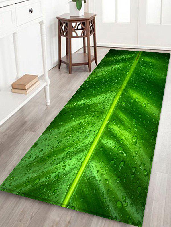 Store Leaf Raindrop Pattern Water Absorption Area Rug