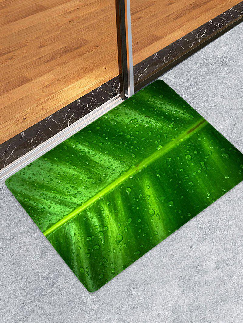 Unique Leaf Raindrop Pattern Water Absorption Area Rug