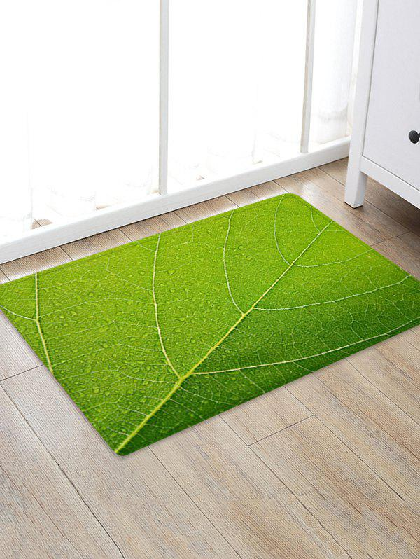 Online Leaf Texture Pattern Water Absorption Area Rug