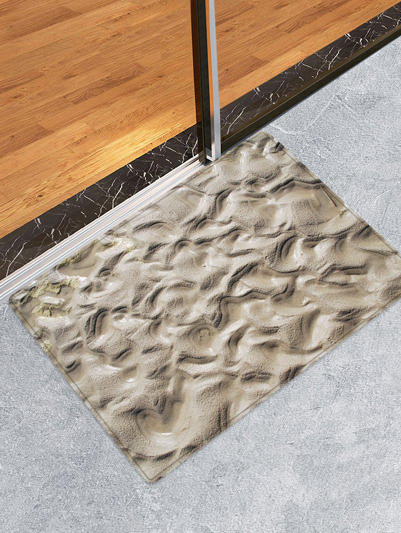 New Indentations In The Mud Pattern Water Absorption Area Rug