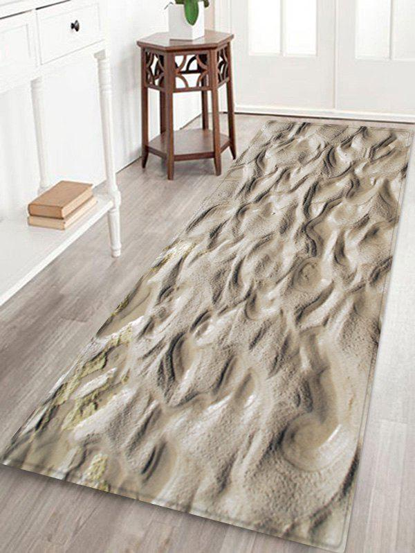 Best Indentations In The Mud Pattern Water Absorption Area Rug