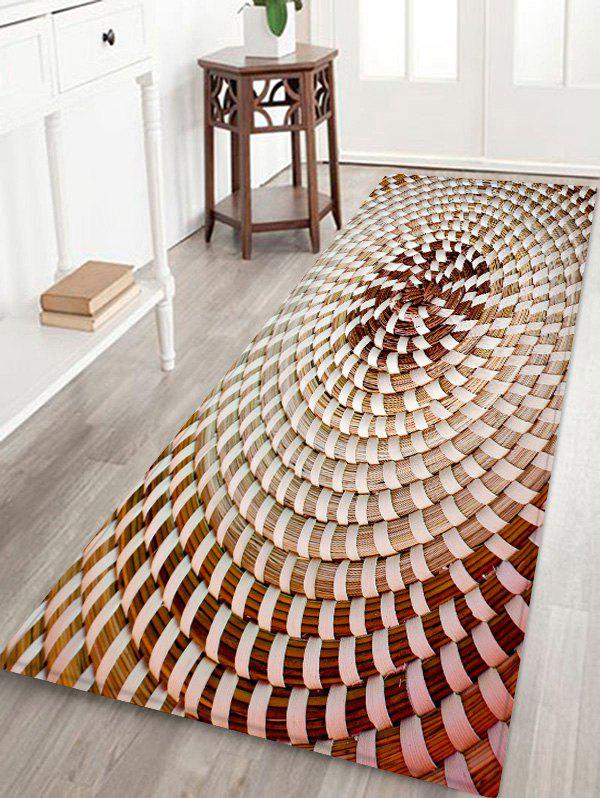 Unique Straw Weaving Pattern Water Absorption Area Rug