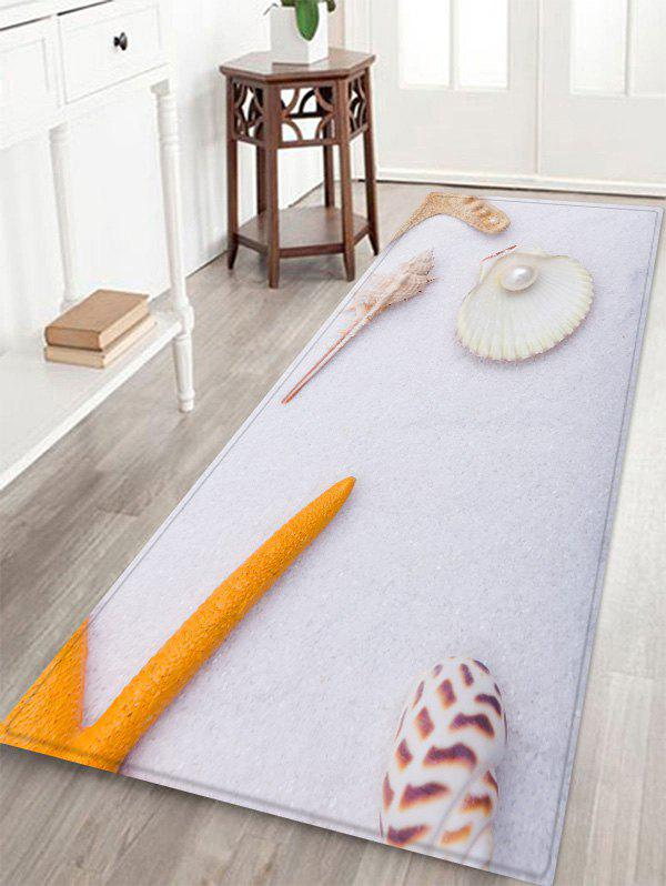 Outfit Conch Pearl Pattern Water Absorption Area Rug