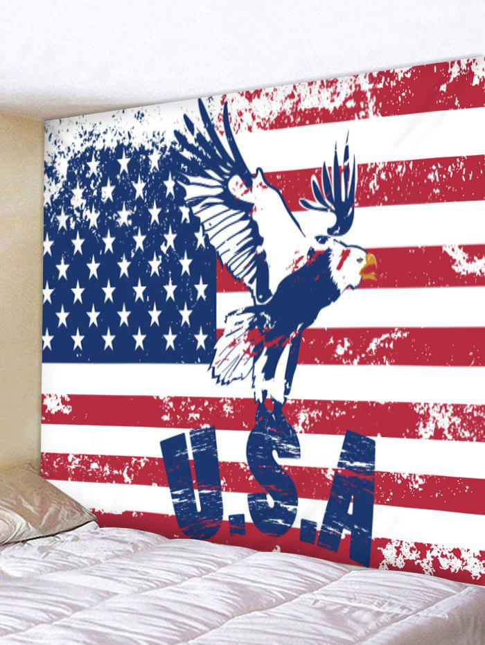 Outfits Wall Hanging Art American Flag Eagle Print Tapestry