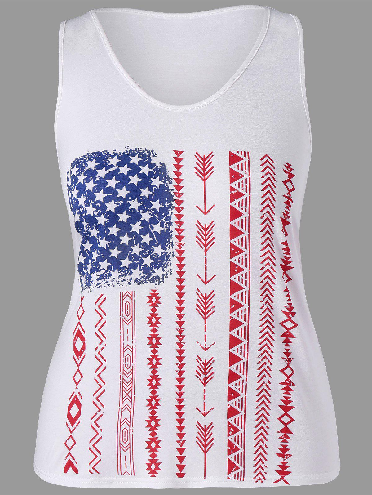Fashion Graphic Plus Size Racerback Tank Top