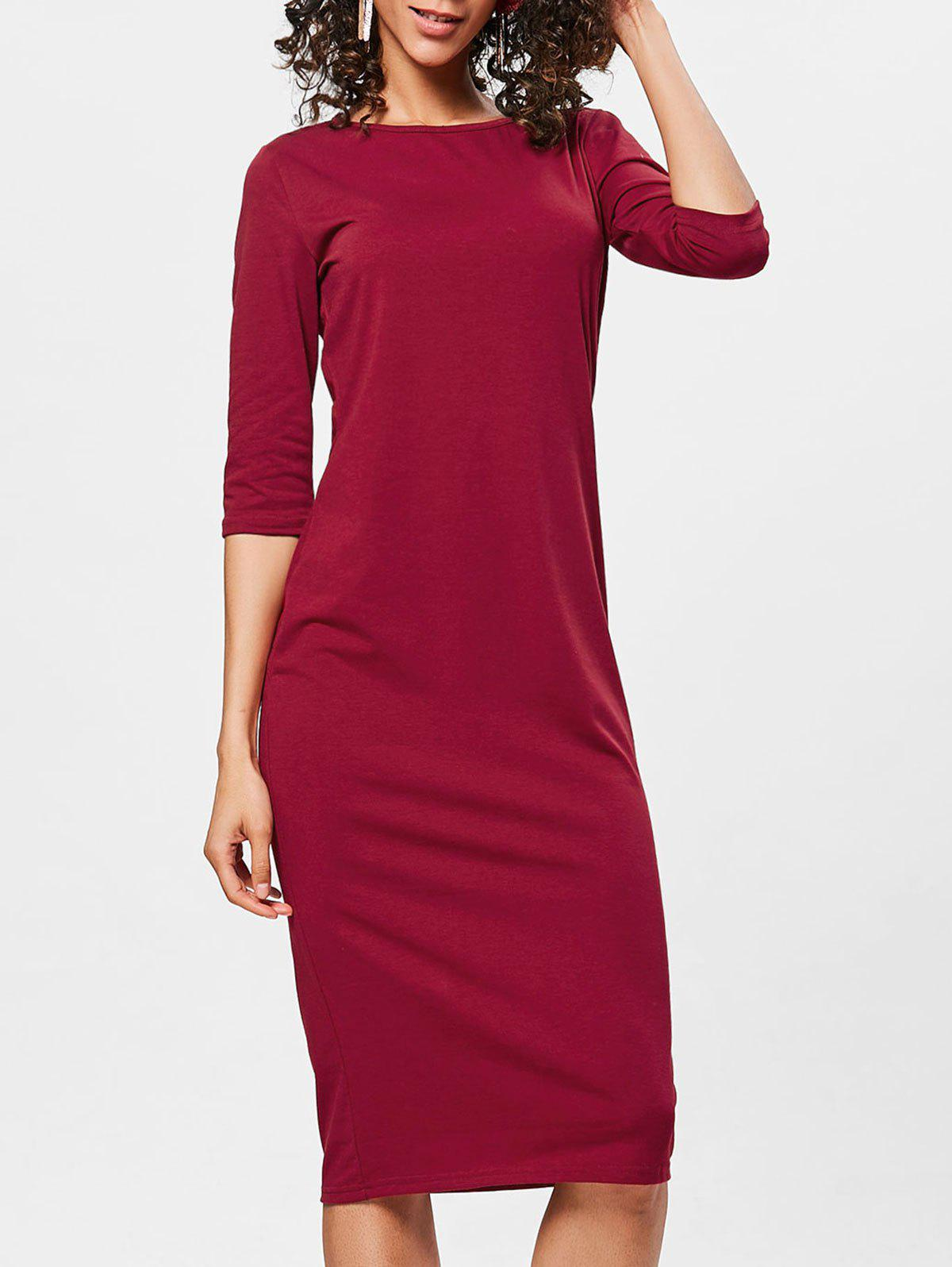 Unique Bodycon Knee Length Shift Dress