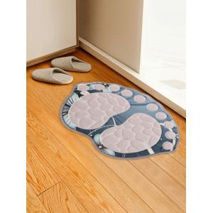 Flowers Pattern Anti-skid Water Absorption Footprint Doormat -