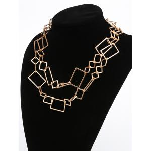 Geometric Irregularly Linked Matte Alloy Pendant Necklace -