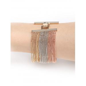 Unique Multilayers Beads Metal Bracelet -