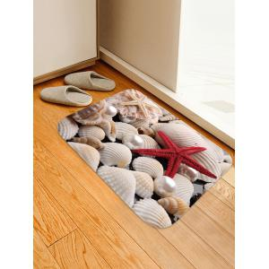 Starfish Shells Pattern Anti-skid Doormat Rectangle Floor Rug -
