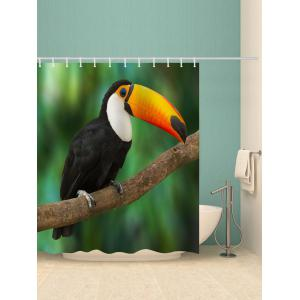Tropical Rainforest Toucan Bird Print Shower Curtain -