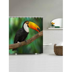 Rideau de douche Tropical Rainforest Toucan Bird -
