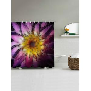 Blooming Flower Print Bathroom Shower Curtain -