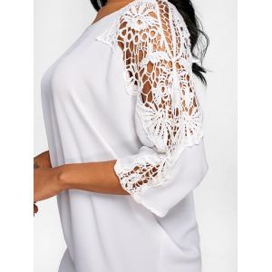 Lace Panel Batwing Sleeve Tunic T-shirt -