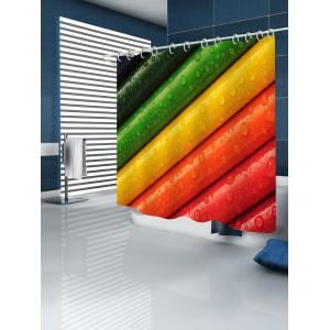 Colorful Crayons Printed Bath Shower Curtain -