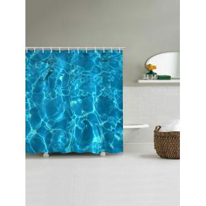 Ocean Ripples Print Waterproof Bathroom Shower Curtain -
