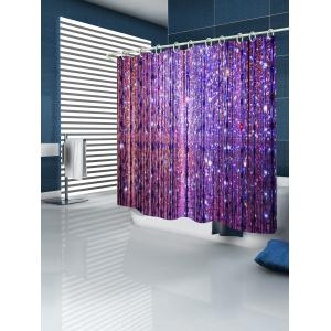 Gleaming Light Printed Bathroom Shower Curtain -
