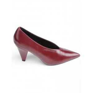 High Heel Point Toe V Cut Pumps -