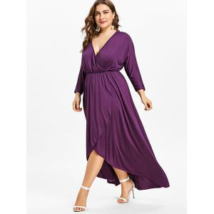 Slit Plus Size Wrap robe haute -
