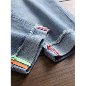 Ripped Tapered Nine Minutes of Jeans -