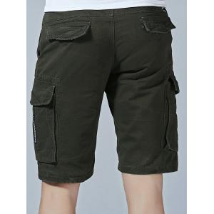 Pockets Decorated Cargo Shorts -