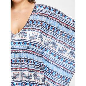 Plus Size Elephant Butterfly Sleeve Cover Up -