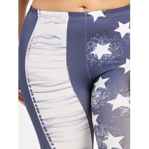 Plus Size Star Print Leggings -