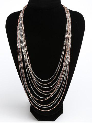 Shop Alloy Multi Layered Bib Necklace