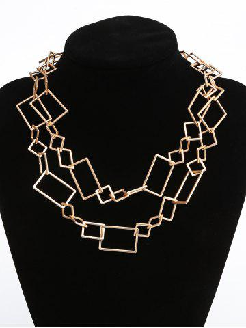 Hot Geometric Irregularly Linked Matte Alloy Pendant Necklace