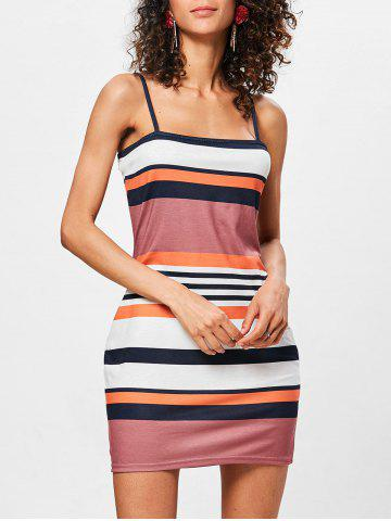 Outfit Bodycon Color Block Striped Dress