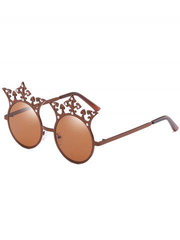 Best Crown Rhinestone Sun Shades Circle Sunglasses