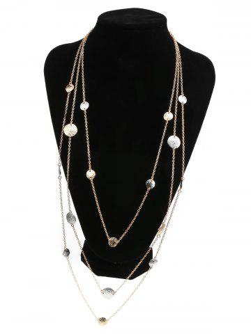 Buy Alloy Layered Coins Embellished Chain Necklace